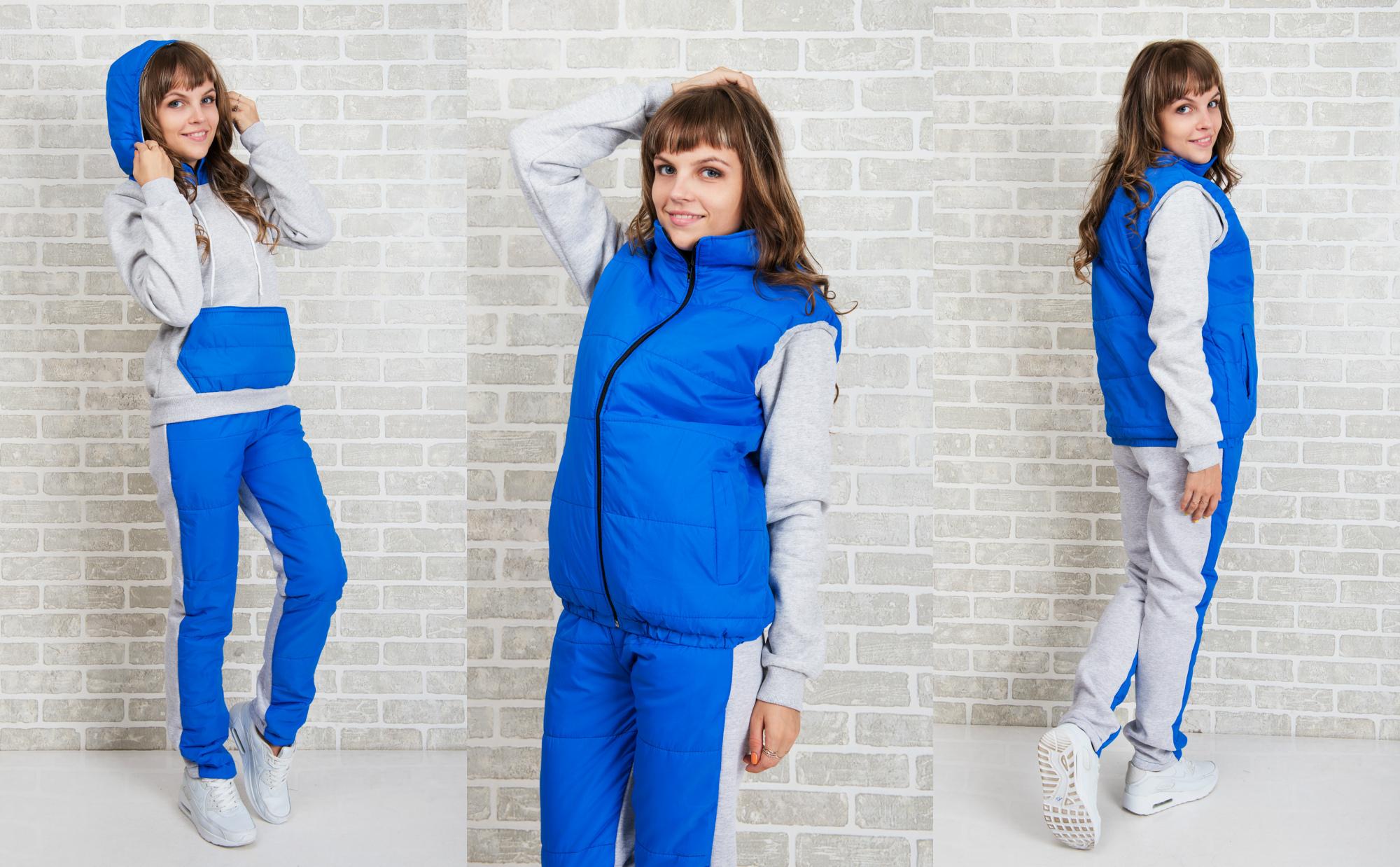 Спортивные костюмы для мужчин и женщин. От 42 до 60 размера. Ветровки, куртки, жилеты, кардиганы. Появляются костюмы на флисе. Новинки каждый выкуп.