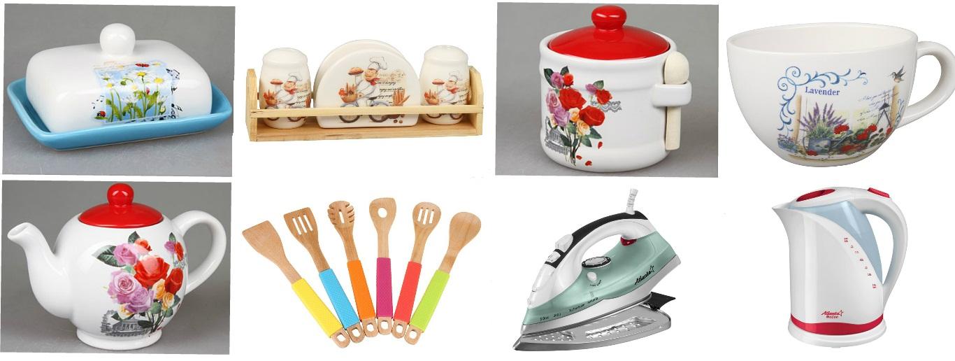 Распродажа! Утюги и чайники. Тарелки, бульонницы, ножи и наборы столовых приборов. Тажин, френч-пресс, форма для выпечки. Наборы для специй и бутылки для масла.