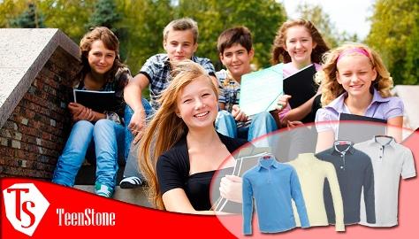 ТееnStone-11. Одежда для крутых школьников! Водолазки, лонгсливы, рубашки поло для школы и др.