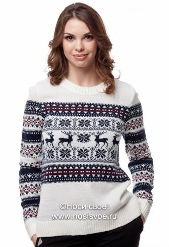 Сказочные свитера с оленями и скандинавскими узорами.