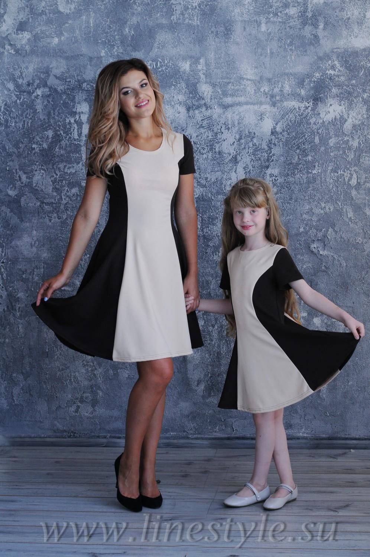 Cбор заказов. Платья, юбки, блузки для девочек и их мам в едином стиле family look, новая осенняя коллекция,а какие цены...всем понравятся-3