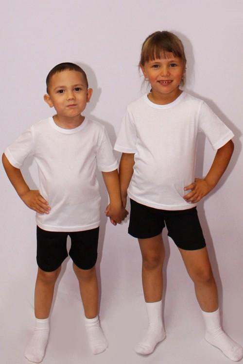 Хит для детсадовцев !Комплект черные шорты+белая майка для физкультуры всего 230р!А также шортики и маечки разных цветов!