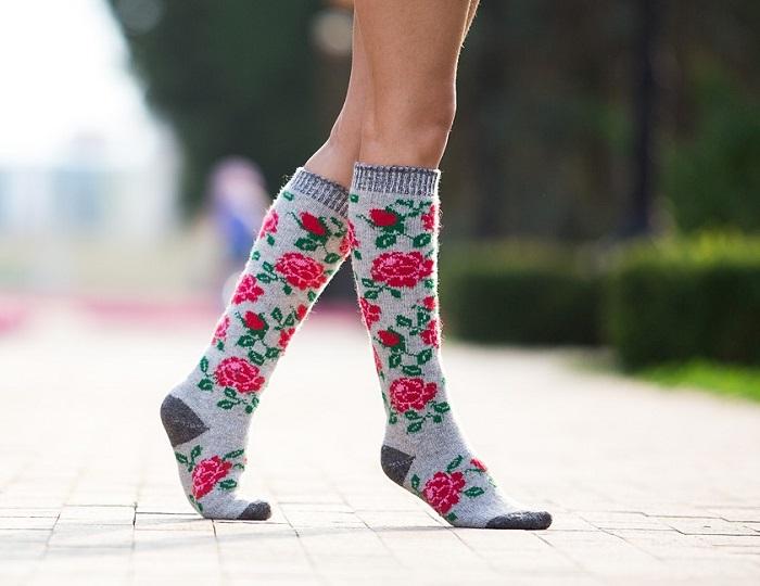 Бабушкины носки-10. Шерстяные красивые носочки, следки, гольфы для всей семьи! Без рядов.