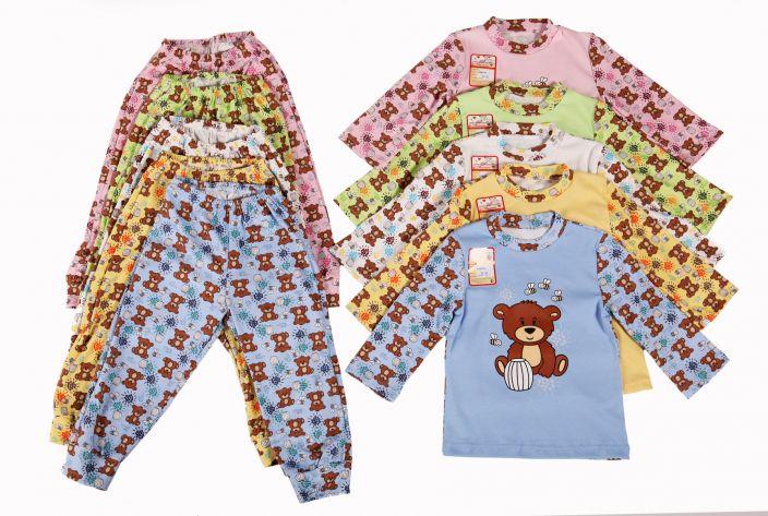 Пижама Мишка р.104 Цвет: зеленый