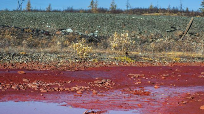 Красная река.