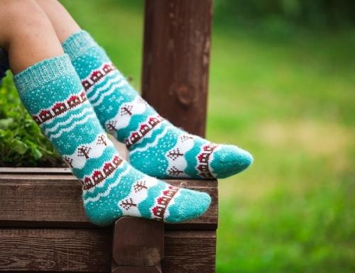Сбор заказов. Готовимся к холодам, шерстяные красивые носочки и гольфы для всей семьи. С рисунком и без, от Бабушкины носки. Хорошо будут и на фотосессиях -2