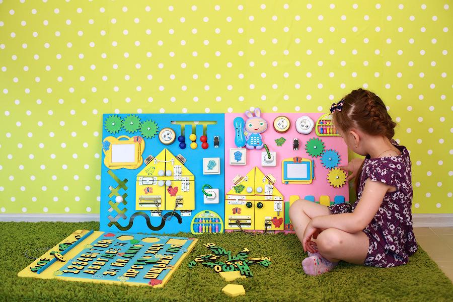 Бизиборд - игрушка, которая развивает ребенка. Правильное развитие малыша по методике Монтессори. Ребенок развивается, родители отдыхают! От 6 месяцев! Выкуп-2