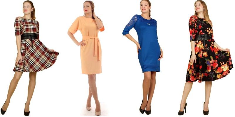 Огромный выбор платьев. Повседневные, офисные и нарядные. А так же юбки, блузки, рубашки, туники.