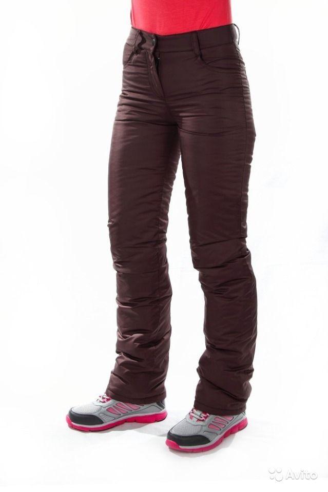 Продам Новые 2 шт утипленные брюки женские 56 р-р зима светло-серые и черные ,маломерят