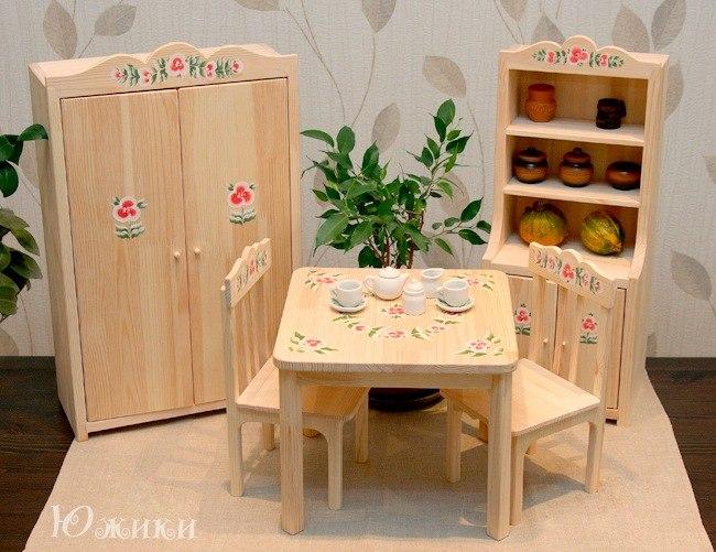 СБОР ЗАКАЗОВ! Деревянная кукольная мебель ручной работы высотой 45 см! Русская печка, деревянная касса! Песочницы для кинетического песка