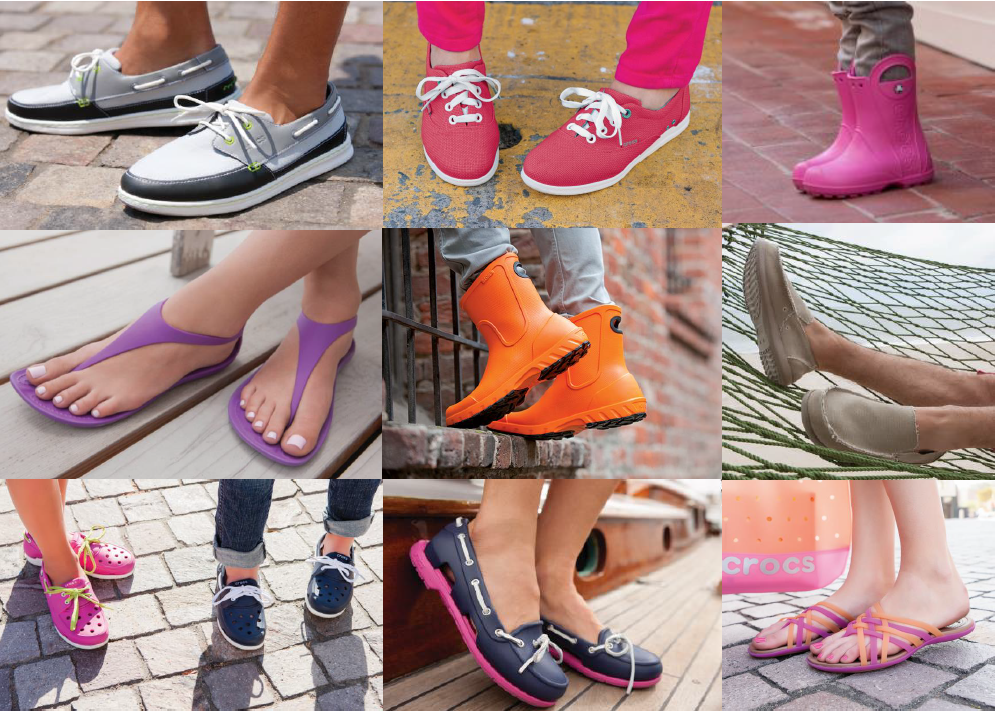 Crocs: знаменитая обувь необычных форм - 22. Свободный склад, без рядов