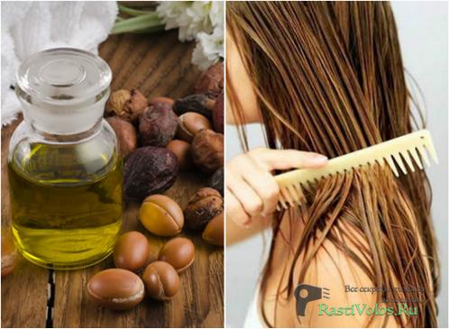 Применение и польза арганового масла для волос