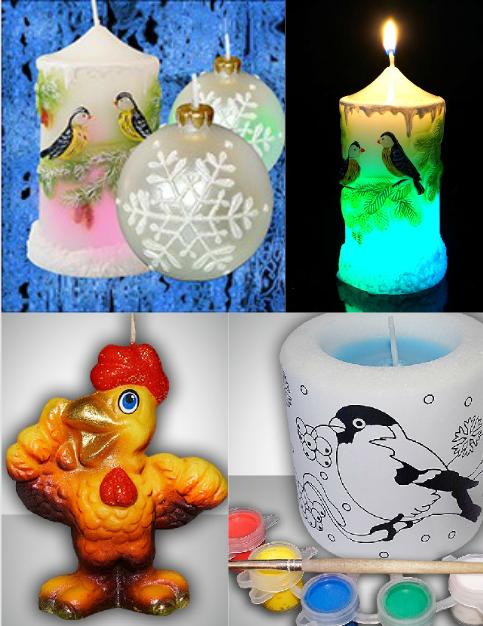 Зажги свечу и загадай желание. Декоративные свечи: символ 2017 года, мигающие свечи хамелеон, свечи ручной работы, в