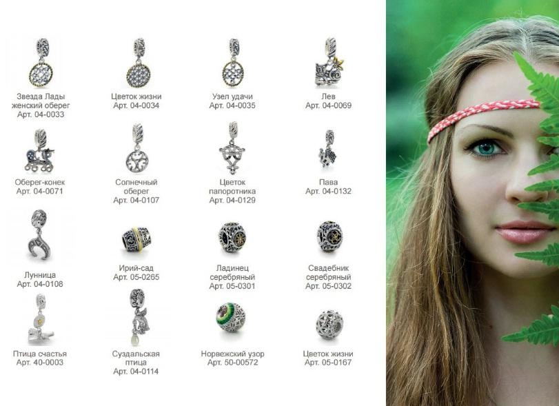 Древнерусские обереговые символы в серебре