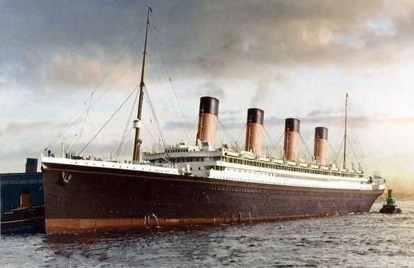 Уникальная цветная фотография Титаника