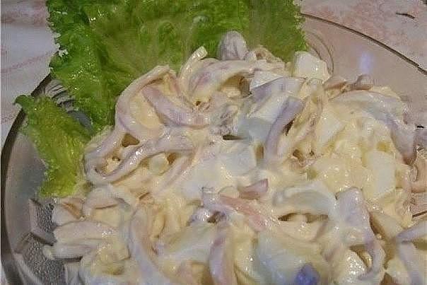 Рецепт из кальмаров
