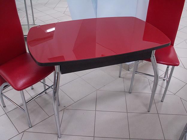 Сбор заказов. Столы c поверхностью из закаленного стекла, с фотопечатью, с постформингом и пластиком. Столы на цельнометаллическом каркасе, раздвижные столы, раскладные и столы-книжки, столы с хромированными и деревянными опорами. -6