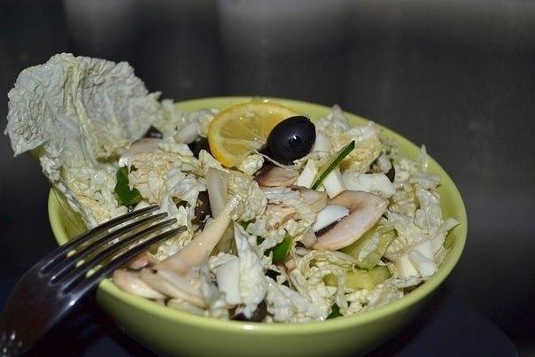 Лёгкий салат на ужин