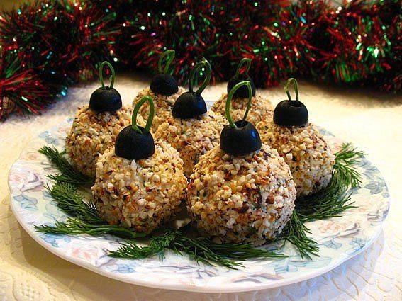 Праздничная закуска Елочные шары Ингредиенты