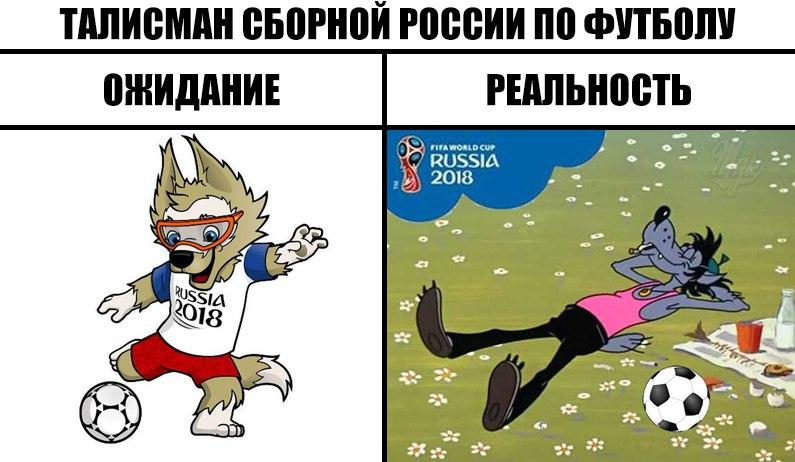 Талисманом Чемпионата мира по футболу FIFA 2018 стал волк Забивака