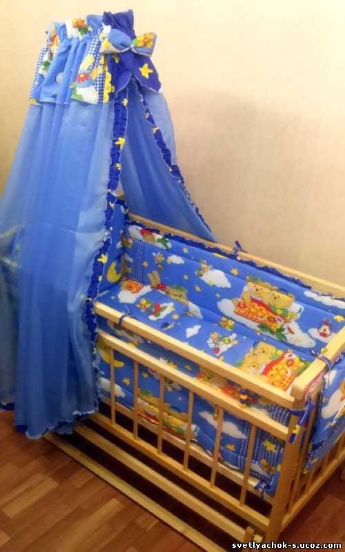 комплект белья в кроватку для малыша сегодня отдам  с орг сбором 10%!