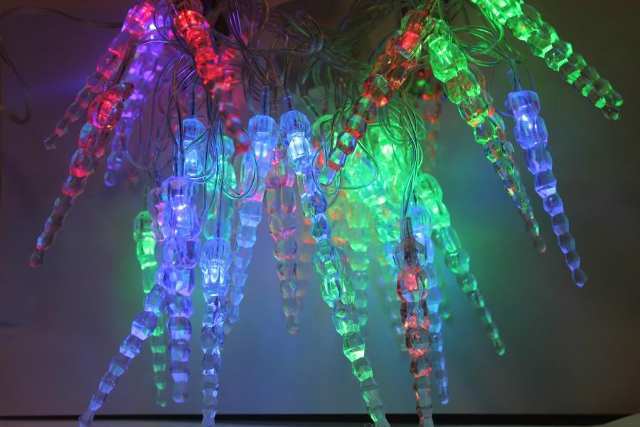 Экспресс-Сбор 2. Новогодние Диско-лампы (по 159 руб.) и шары с флешкой, гирлянды сосульки 149 руб., светящиеся деревья, бенгальские огни, серпантин, подарочные наборы, кухонные примочки для праздничного стола и подарков, пики для канапе, стельки
