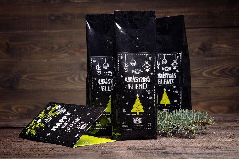 Кофе Cristmas Blend - специальная новогодняя упаковка, отлично подходит для подарка