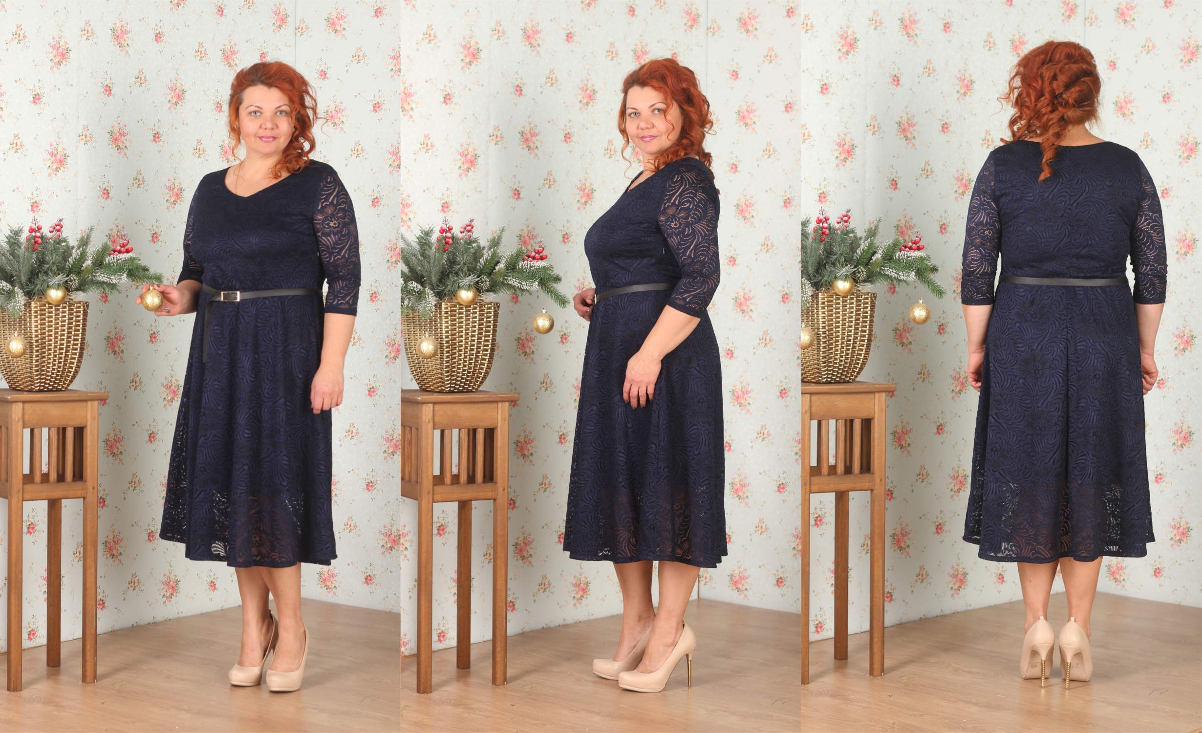 Cбор заказов. Платья, платья платья, различные модели на любую фигуру, Размеры 42-60, очень интересная и яркая новогодняя коллекция, платья из кружева, атласа, барахата и много всего интересного-25