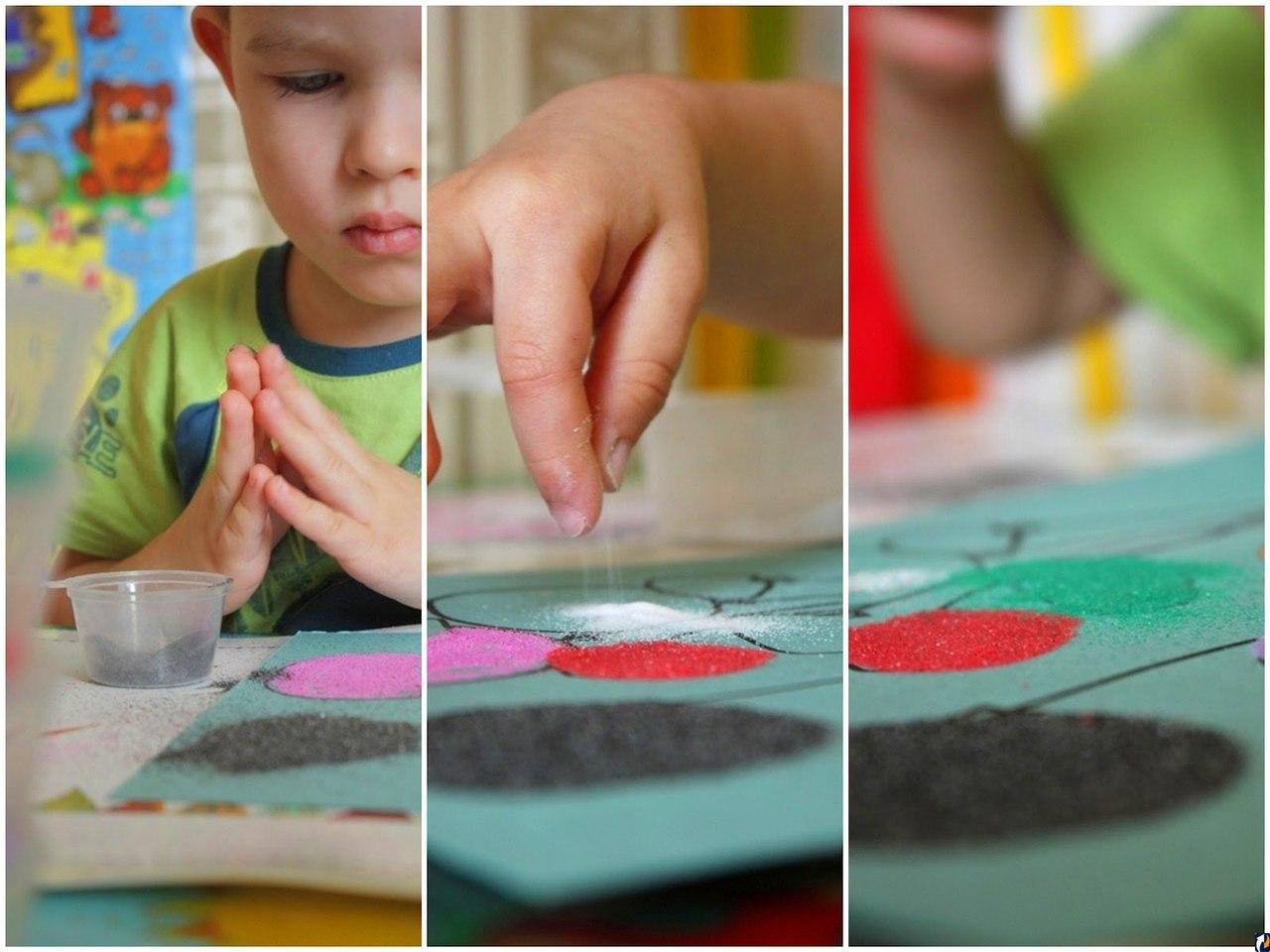 Рисование цветным песком. Песочная фантазия. Наборы для творчества и трафареты. Играем-развиваемся