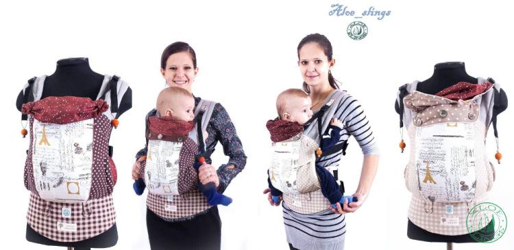 Слинг_ Эрго- рюкзак Aloe slings с бандажным комбинированным поясом.