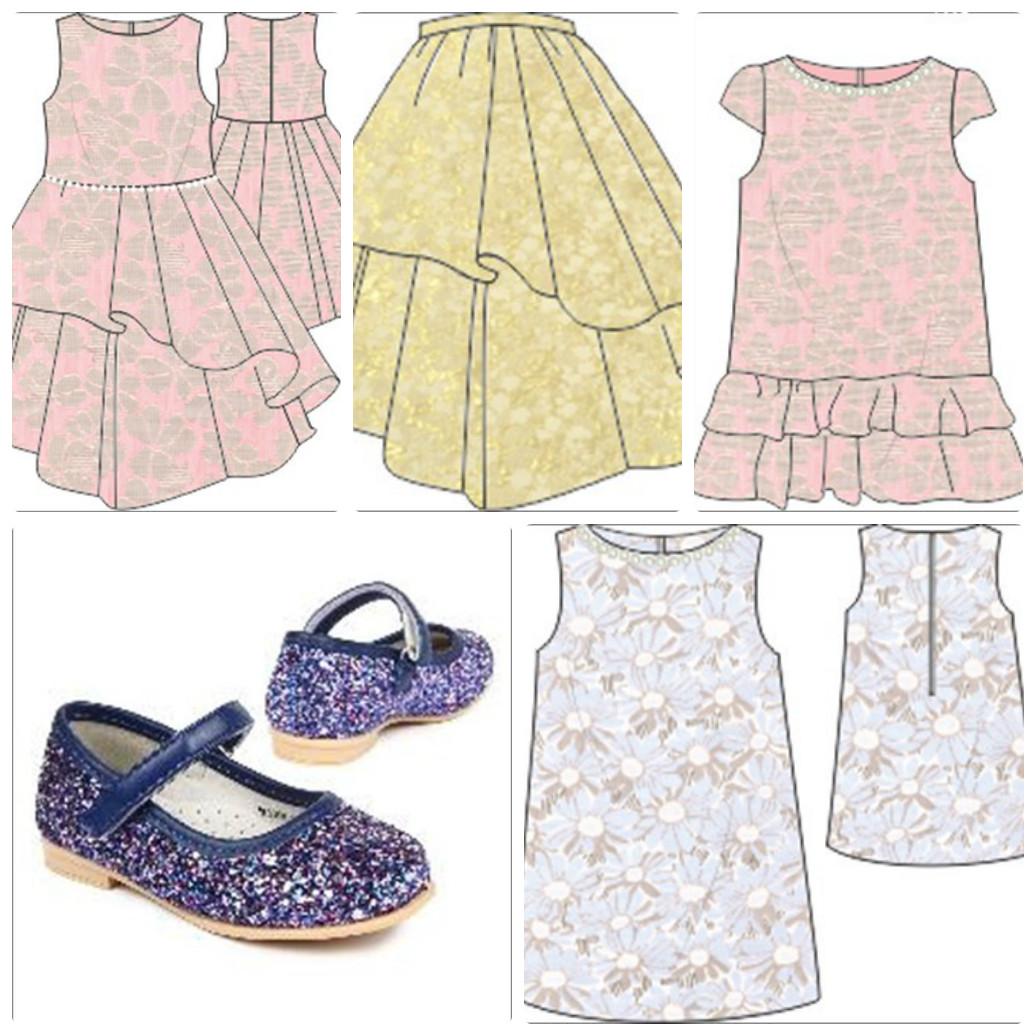 Праздничные платья, юбки, жакеты из парчи для девочек. Элегантные модели и расцветки. 98-152 р-ры. Обувь.