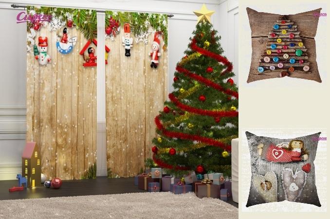 Сбор заказов. Фото -шторы, -тюль, -подушки, классические шторы для гостиной, детской и кухни, а так же скатерти в комплект. Новая Новогодняя коллекция! Возможность индивидуального заказа! Распродажа комплектов шторы+покрывало – скидка 45%!
