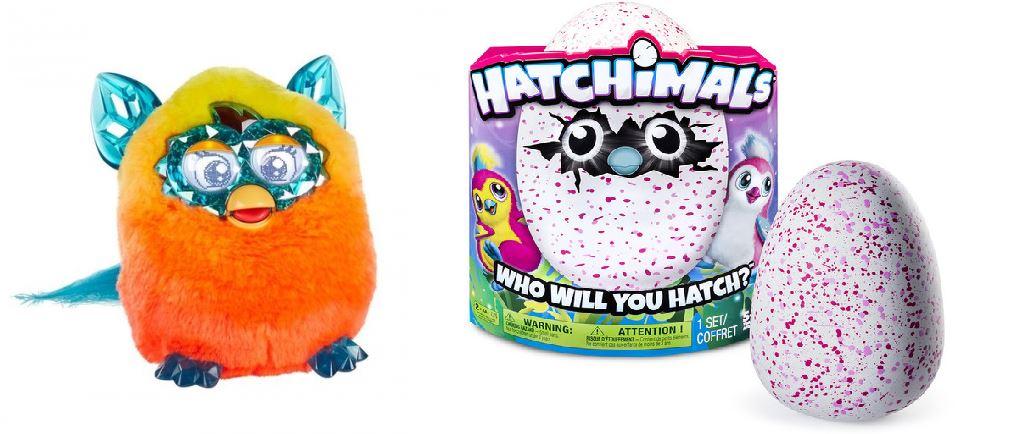 В галерею добавила Ферби (оригинал) по акционной цене (1я галерея) и пингвинчиков  Hatchimals (галерея СпинМастер). Скоро СТОП)