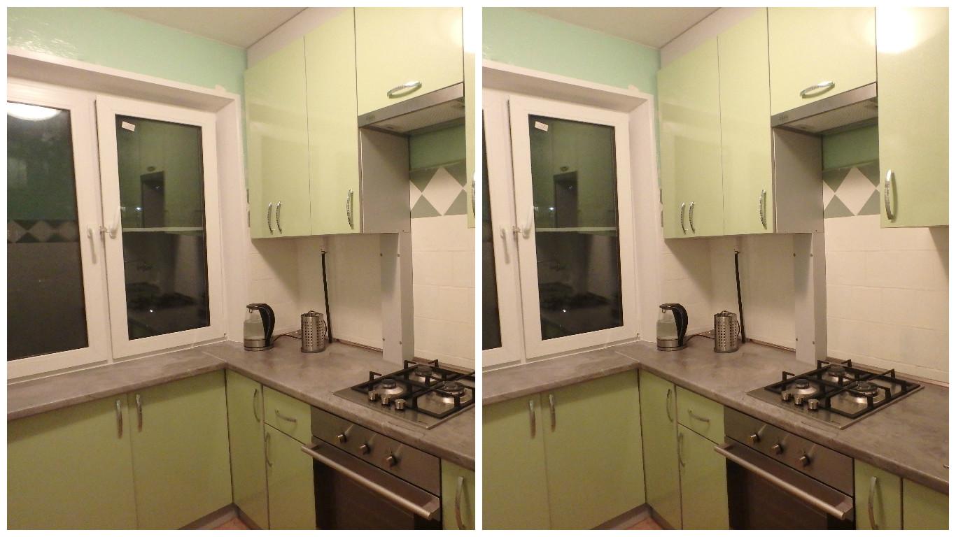 Комплексное решение - окно, кухонный гарнитур, подоконник-столешница