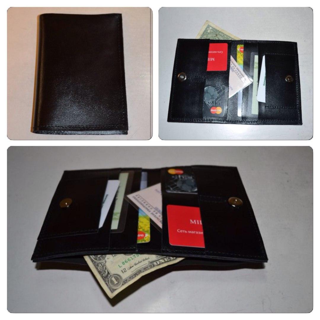К 23 февраля! Мужские бумажники из натуральной кожи от 510р