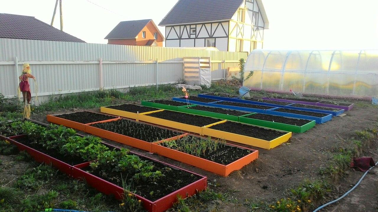 Ограждения для грядок и клумб, садовых дорожек из оцинкованной стали с полимерным покрытием по ценам 2016г-2