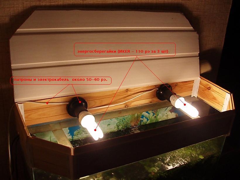 Крышка на аквариум своими руками с подсветкой