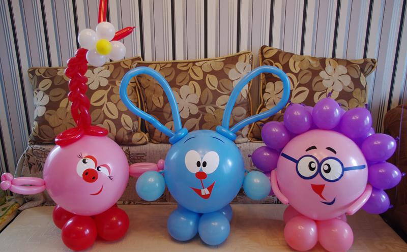 Фигурки из воздушных шаров своими руками видео