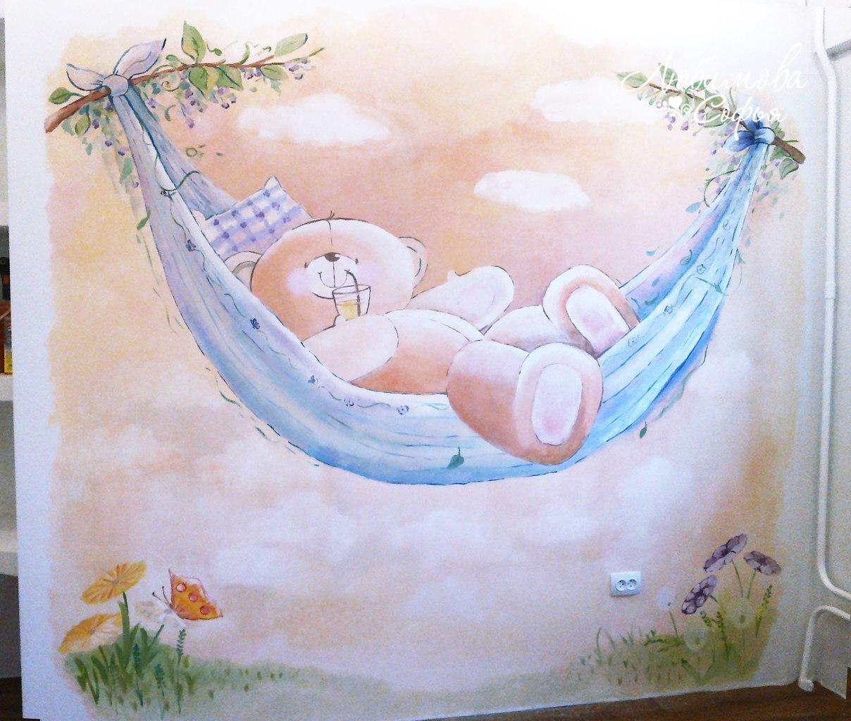 Роспись стен в детской фото