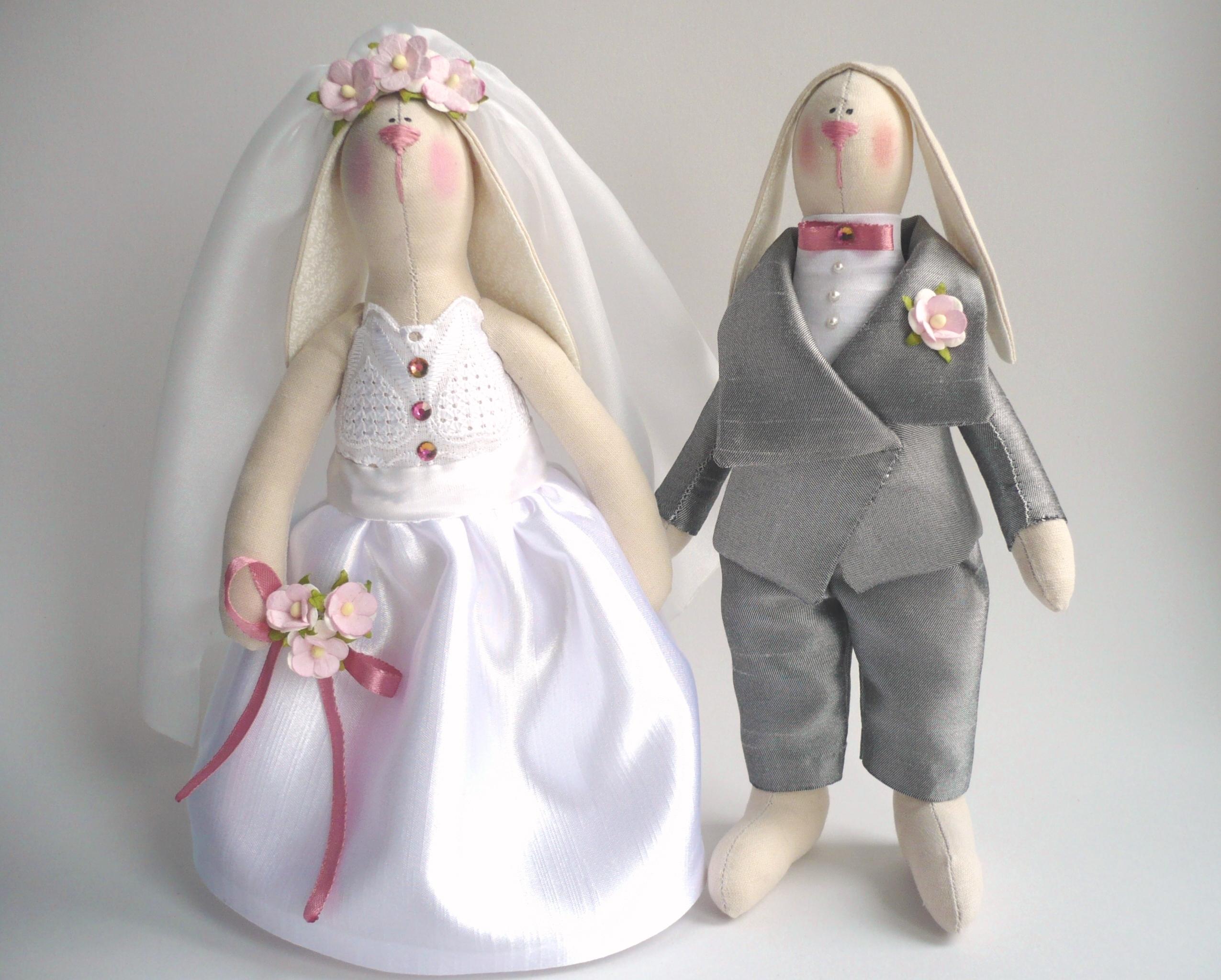 Бабочка галстуВыкройки куклы-невесты и куклы жениха