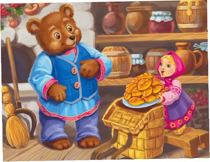 маша и медведь с картинками читать