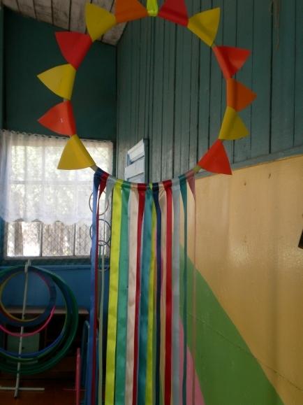 Украшение на веранду в детском саду