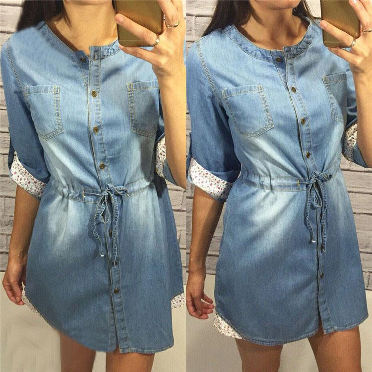 Фото женских джинсовых платьев