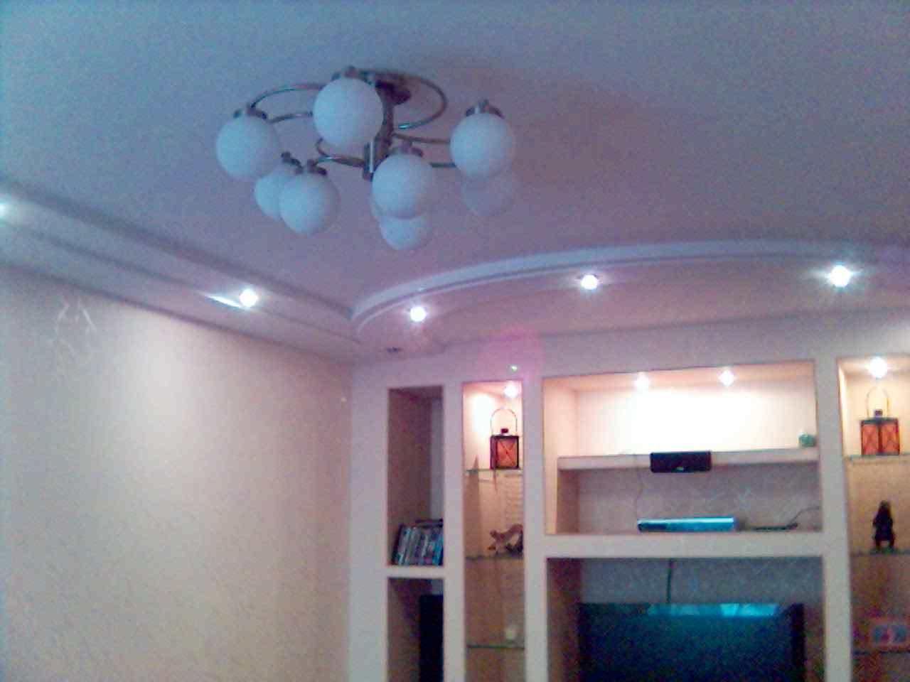 Двухуровневые потолки из гипсокартона фото для кухни своими руками 88