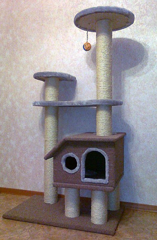 Домик для кошки своими руками фото чертежи 63