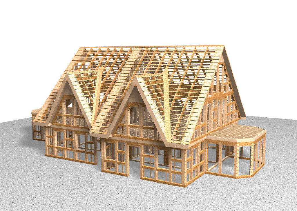 Дома из деревянного каркаса своими руками
