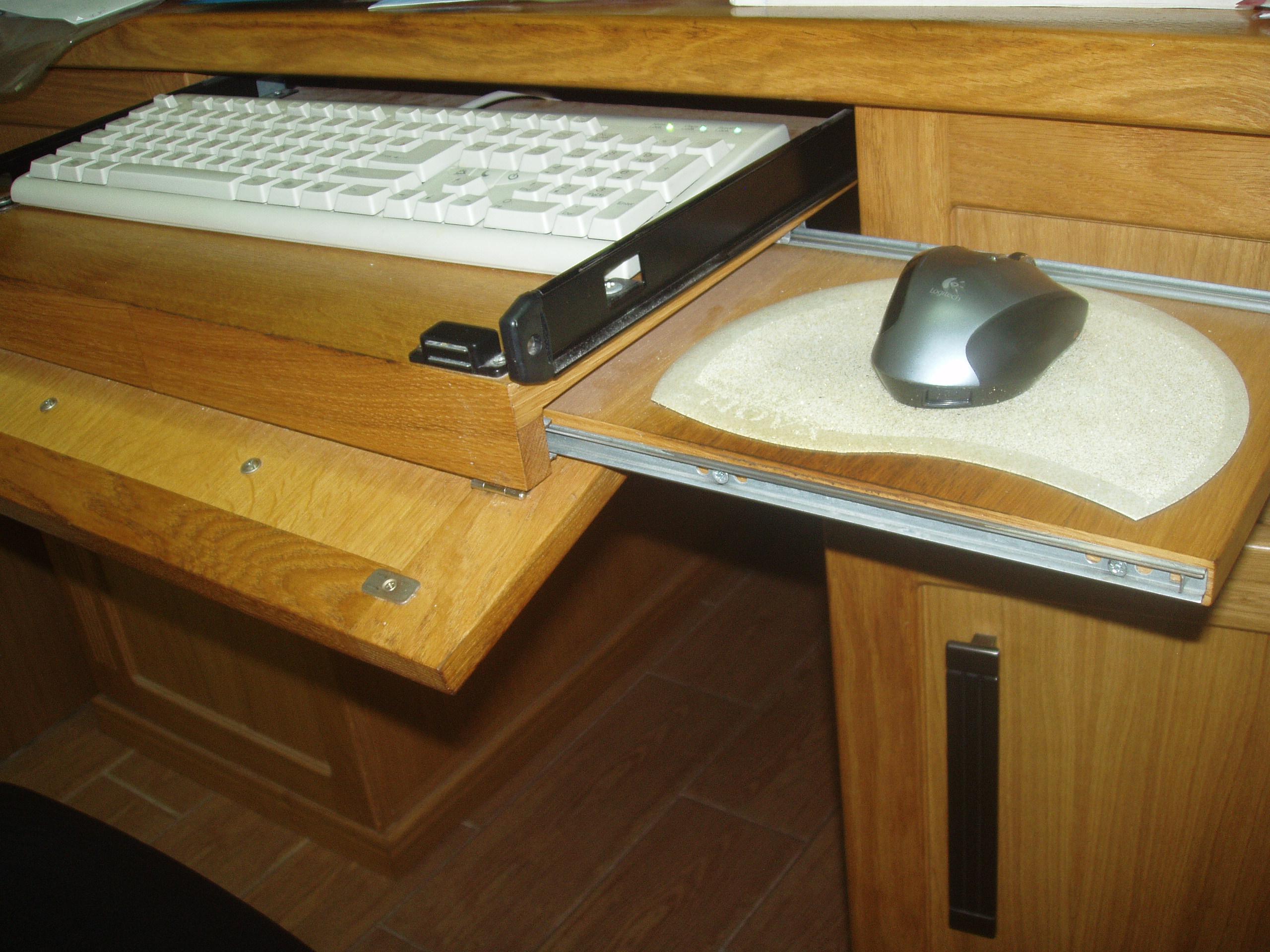 Выдвижная полка для клавиатуры своими руками