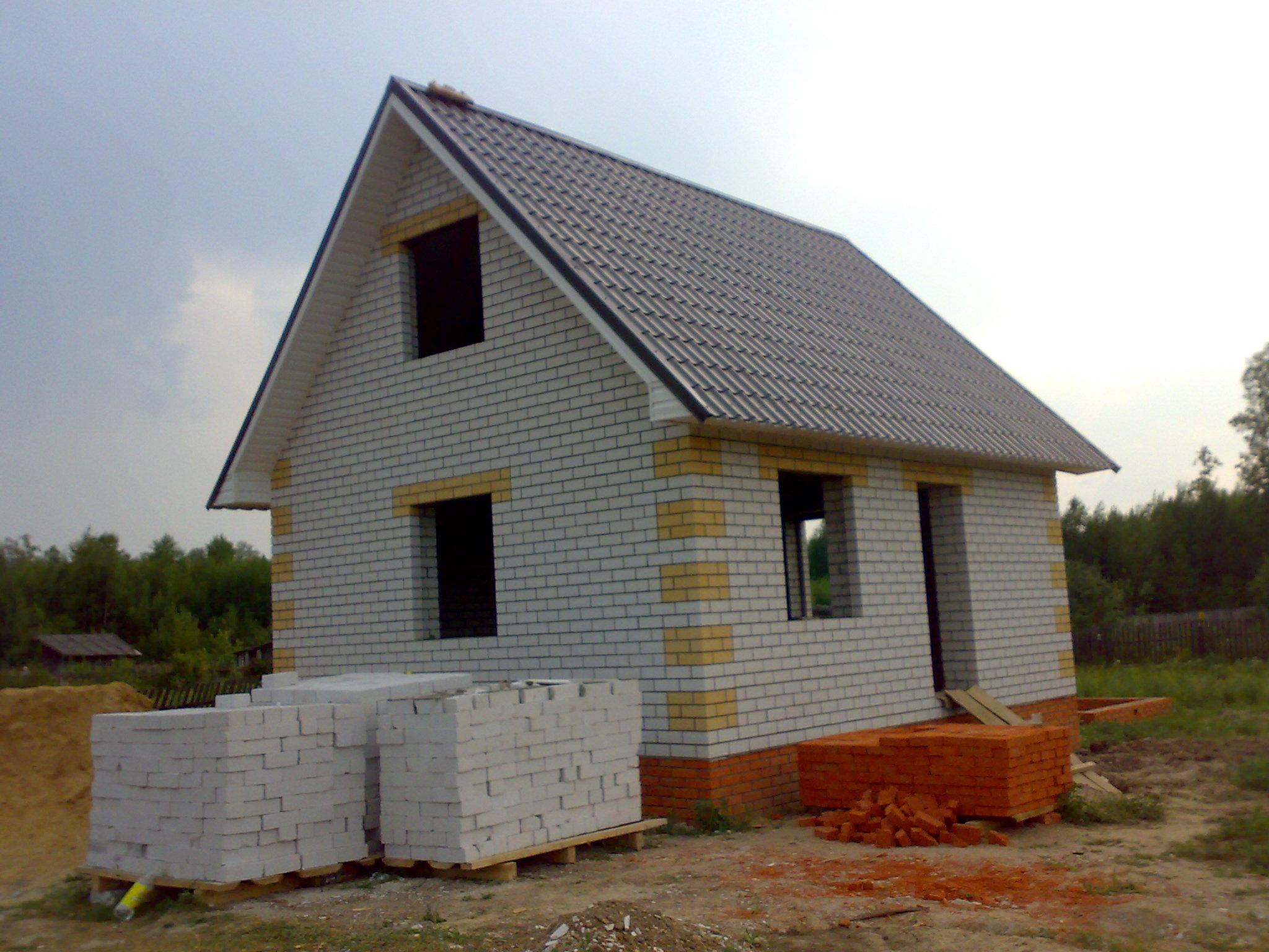Кирпичный дом 4 на 5 своими руками