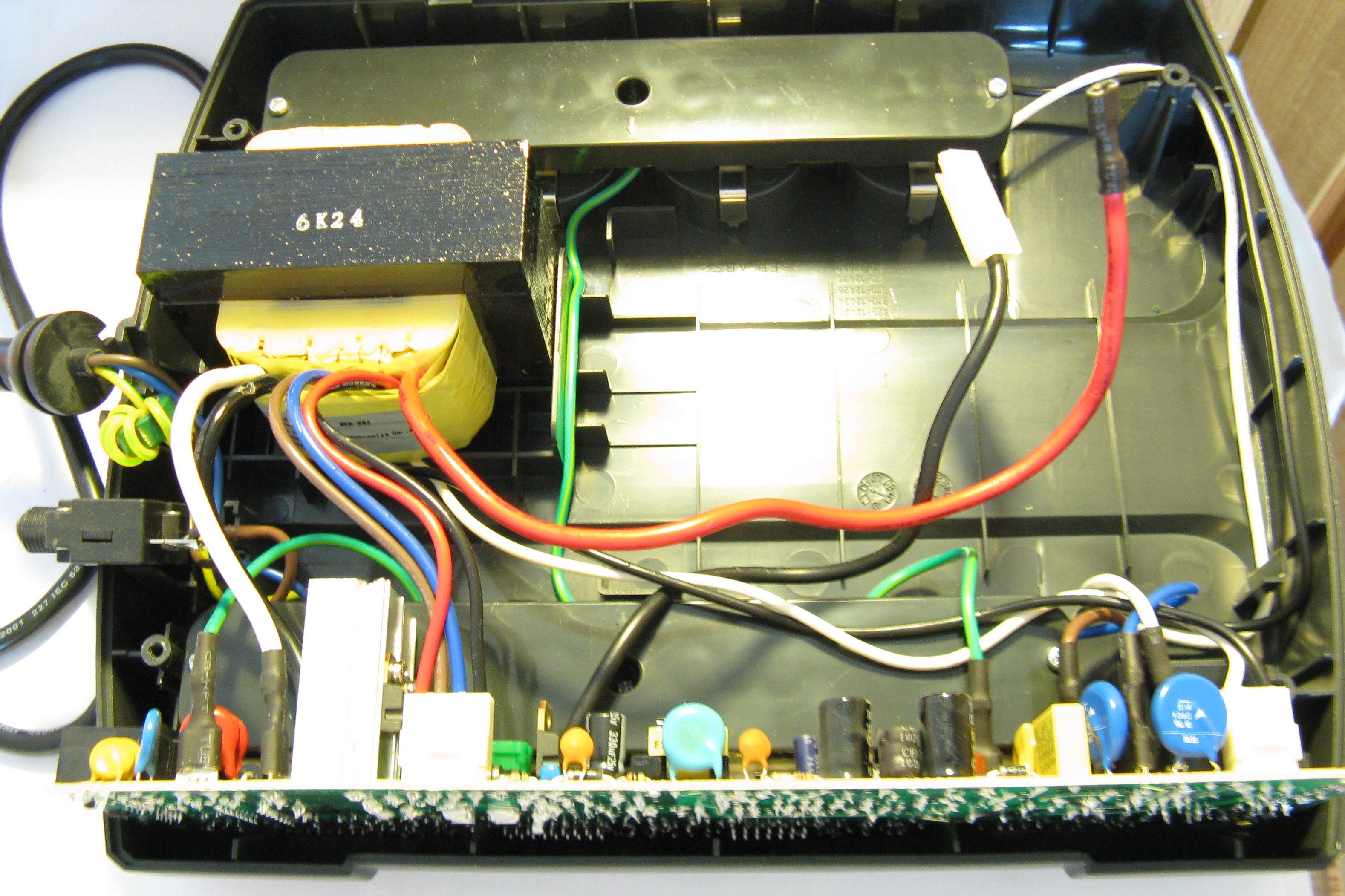 APC Back-UPS CS 500, классический ремонт (конденсаторы) 66