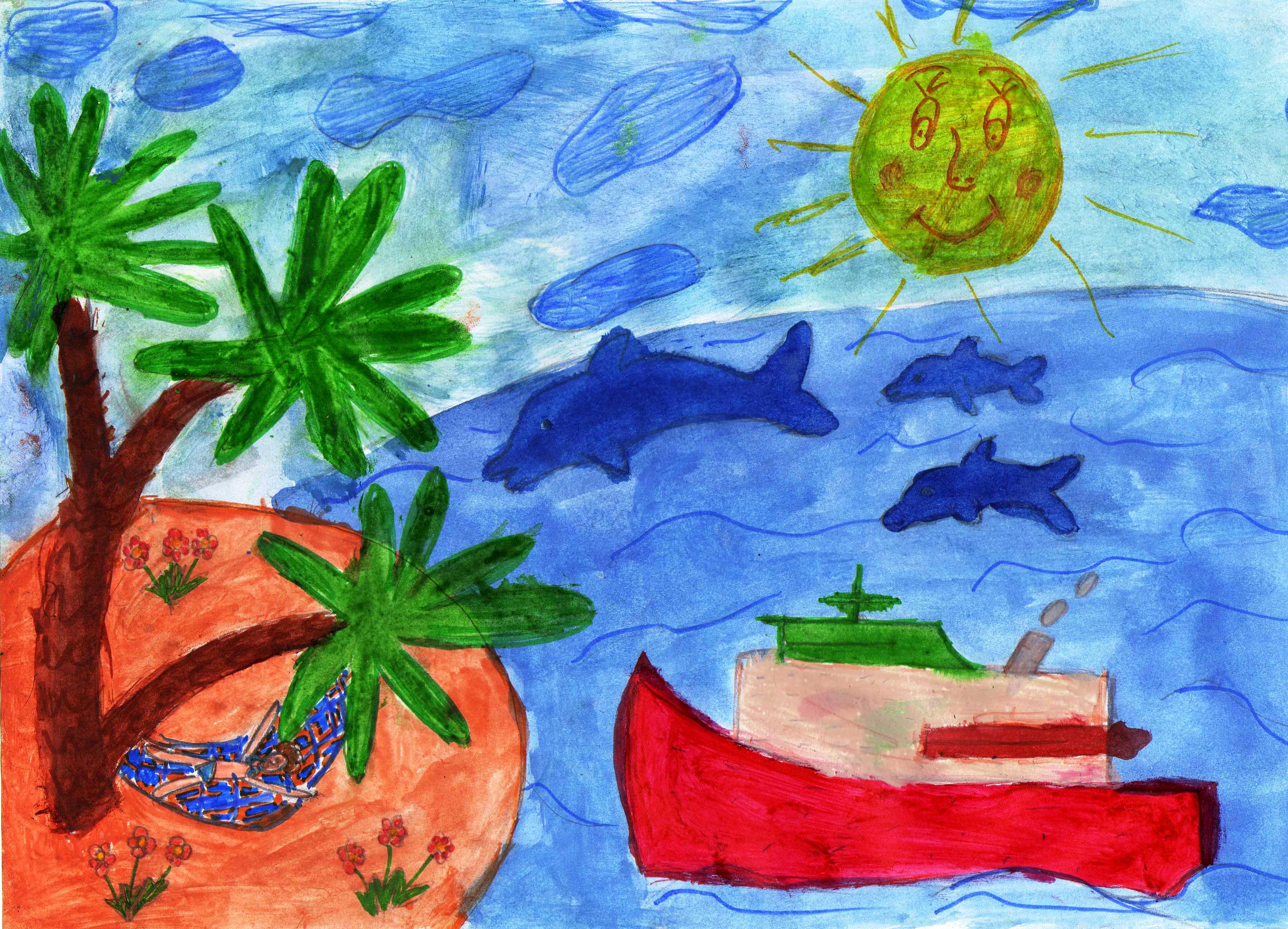Рисунок своими руками лето